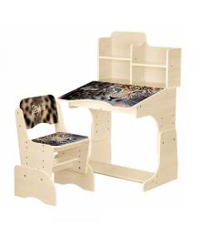 Детская парта BAMBI B 2071-92-1(EN) со стульчиком, леопард