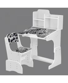 Детская парта BAMBI B 2071-93-1(EN) со стульчиком, леопард