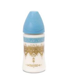 Бутылочка Suavinex Couture 3 потока Голубая 270 мл