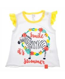 Майка SMIL Zebra белый/желтый 110497