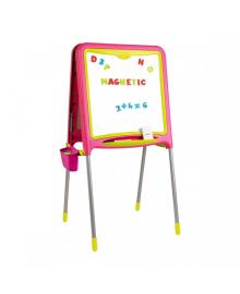 SMOBY TOYS Двусторонний мольберт на металл. ножках с аксес., 52х54х105 см, розовый, 3  410303