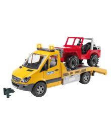 BRUDER Машинки игрушечные - Мерседес Спринтер эвакуатор + джип 2535, 4001702025359