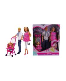 SIMBA TOYS Кукольный набор Штеффи Счастливая семья, 3