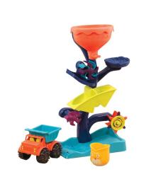 BATTAT Набор для игры с песком и водой - МЕЛЬНИЦА (в комплекте машинка, ведерце) BX1310Z, 4890920013107