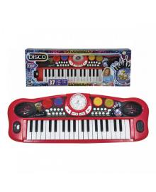 SIMBA TOYS Музыкальный инструмент Диско. Электросинтезатор, 37 клавиш, 8 ритмов, 56 см, 6  683 4101