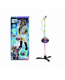 SIMBA TOYS Музыкальный набор Микрофон на стойке, съемная база и разъем для MP3-плеера, с свет., Эффектами, 6