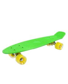 GO TRAVEL Детская доска для катания зеленая, желтые прозрачные колеса 56 см LS-P2206GYT