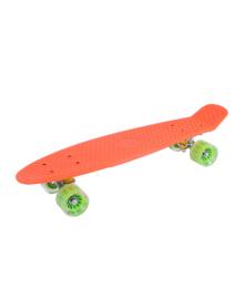 GO TRAVEL Детская доска для катания оранжевая, зеленые прозрачные колеса 56 см LS-P2206OGT