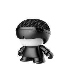 "Акуст. система XOOPAR серии ""Металлик"" - Mini XBOY (7,5 cm,черн.,Bluetooth,USB-каб,подсв., ремешк.)"