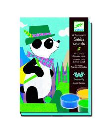 DJECO Художественный комплект рисования цветным песком Панда и его друзья DJ08630, 3070900086302