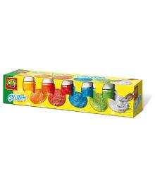 Гуашь - СВЕРКАНИЕ (6 цветов, в пластиковых баночках) Ses Creative 00333S, 8710341003333