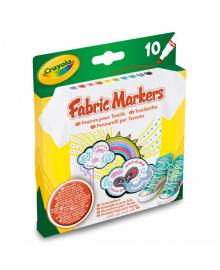 CRAYOLA КАРАНДАШИ 10 фломастеров рисования по ткани; 4+ 58-8633