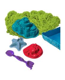Набор песка для детского творчества - KINETIC SAND ЗАМОК ИЗ ПЕСКА (фиолетовый, 454 г, формочки, лото