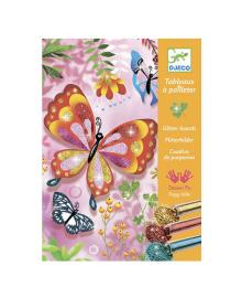 DJECO Художественный комплект рисования блестками Блестящие бабочки DJ09503, 3070900095038