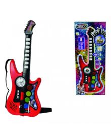 SIMBA TOYS Музыкальный инструмент Диско. Гитара, 10 звук. эффектов, 66 см, 6  683 4102
