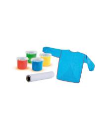 """Набор для рисования """"My first"""" – МАСТЕРСКАЯ (4 цвета красок в пластиковых баночках, EVA-фартук с длинными рукавами) Ses Creative 14417S"""