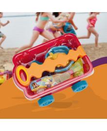BATTAT Набор для игры с песком и водой - ТЕЛЕЖКА МАНГО (11 предметов) BX1594Z, 6900001204374