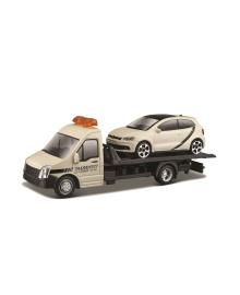 Игровой набор - АВТОПЕРЕВОЗЧИК c автомоделью  VW POLO GTI MARK 5 Bburago 18-31403, 4893993314034