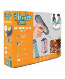 3DOODLER START 3D-ручка для детского творчества - АРХИТЕКТОР (96 стержней, шаблон, аксесс.) 3DS-ARCP-MUL-R