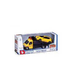 Игровой набор - АВТОПЕРЕВОЗЧИК c автомоделью ALFA ROMEO MITO Bburago 18-31406, 4893993314003