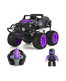 Автомобиль CRASH CAR на р/у -  ЧЕРНАЯ ВДОВА (фиолетово-черный, аккум. 4.8V) WILTON BRADLEY MONSTER SMASH-UPS TY5873D-1