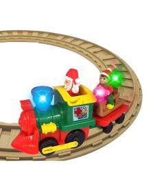 KIDDIELAND Игровой набор с железной дорогой - РОЖДЕСТВЕНСКИЙ ЭКСПРЕСС (свет, звук)