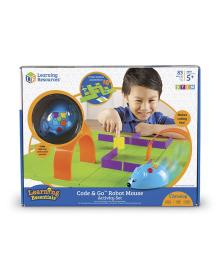 Игровой STEM-набор LEARNING RESOURCES – МЫШКА В ЛАБИРИНТЕ (программируемая игрушка,аксесс.,карточки) LER2831, 6900006496255