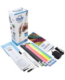 3DOODLER CREATE 3D-ручка PLUS  для проф. использ. - БЕЛАЯ (75 cтержней, аксесс.) 8CPSWEEU3E