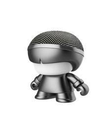 "Акуст. система XOOPAR серии ""Металлик"" - Mini XBOY (7,5 cm,сер.,Bluetooth,USB-каб,подсв., ремешк.) XBOY81001.22М, 4897032089525"