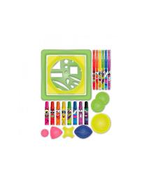 SCENTOS Ароматный набор для творчества -  ОЗОРНЫЕ УЗОРЫ (ручки, маркеры, бумага, спирограф)