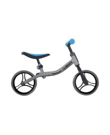 GLOBBER Беговел серии GO BIKE, серебристо-синий, до 20кг, 2+, 2 колеса 610-190