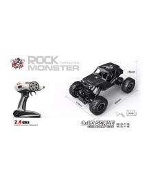 Автомобиль OFF-ROAD CRAWLER на р/у – TIGER (матовый черный, аккум. 4,8V, метал. корпус, 1:18) Sulong Toys SL-111RHMBl, 6900006517394