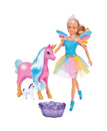 SIMBA TOYS Кукольный набор Штеффи Беременная мама-единорог с малышом и ванночкой, 3  STEFFI & EVI 573 3313, 4006592040215