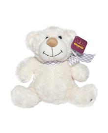 GRAND CLASSIC Мягкая игрушка - МЕДВЕДЬ (белый, с бантом, 33 cm) 3301GMB, 5840006519879