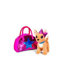 CCL Собачка Чихуахуа. Звезда с пайетками с сумочкой, 20 см, 3+