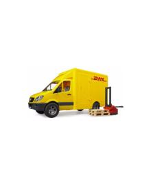 BRUDER игрушка - МВ Sprinter курьерская доставка грузов с погрузчиком, М1:16