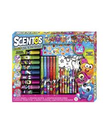 Ароматный набор для творчества - АРОМАТНОЕ АССОРТИ ручки,маркеры,воск.карандаши,наклейки,раскраска