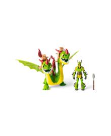 SPIN MASTER DRAGON Как приручить дракона 3: набор из дракона Барса и Вепря и всадника Задиры