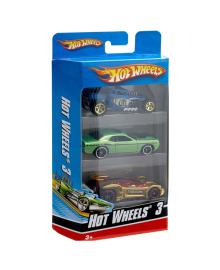 MATTEL HOT WHEELS Подарочный набор автомобилей 3 шт.
