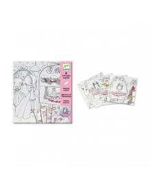 """Художесвенный комплект для рисования """"Маленькие дверцы для Пуппи"""" Djeco DJ09633, 3070900096332"""