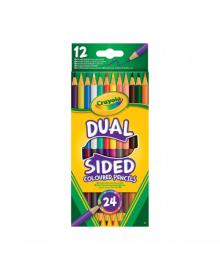CRAYOLA КАРАНДАШ 12 двусторонних цветных карандашей
