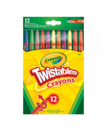 CRAYOLA КАРАНДАШИ 12 цветных выкручивающихся восковых мелков;3+ 52-8530