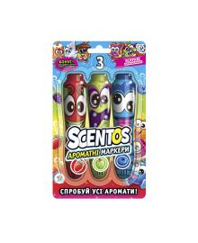 Набор ароматных маркеров для рисования -  ФРУТТИ ТРИО (3 цвета) Scentos