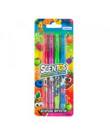Набор ароматных гелевых ручек - яркий ФРУКТЫ (4 цвета) Scentos