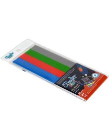 3DOODLER START Набор стержней для 3D-ручки - МИКС (24 шт: серый, голубой, зеленый, красный)