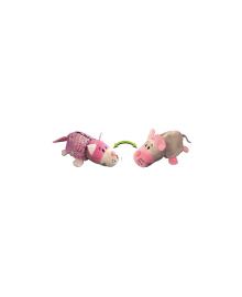 ZOOPRЯTKI FLIPAZOO Мягкая игрушка с пайетками 2 в 1 - ZooPrяtki - КОТ-МЫШЬ (12 cm)