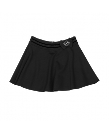 Демисезонная трикотажная юбка черного цвета Mevis 1651-02