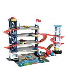 """DICKIE TOYS Игровой набор """"Паркинг"""", четыре эт., Лифт, 4 авто и вертолет, аксес., Со звук. и свет. эфф., 3"""