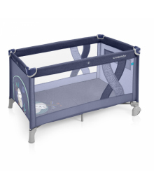 Манеж-ліжечко Baby Design SIMPLE 03 BLUE