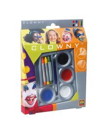 Набор для грима - МАСКАРАД (краски, карандаши, кисточка) Ses Creative